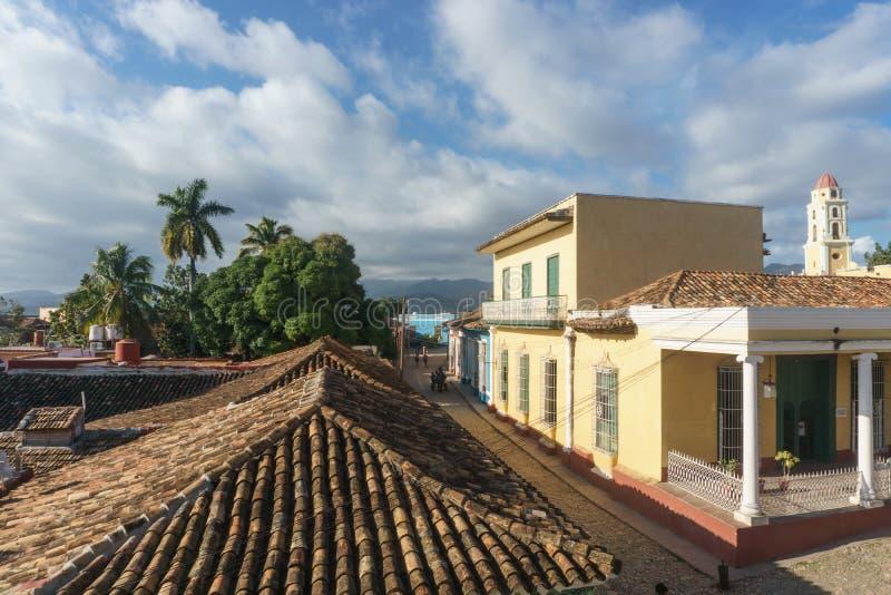 Le Trinidad, Cuba, le 3 janvier 2017 : Vue de rue de ville Le Trinidad est un de l'endroit touristique de nécessité au Cuba photos stock