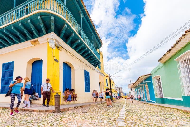 LE TRINIDAD, CUBA - 16 MAI 2017 : Vue de la rue de ville Copiez l'espace pour le texte image libre de droits