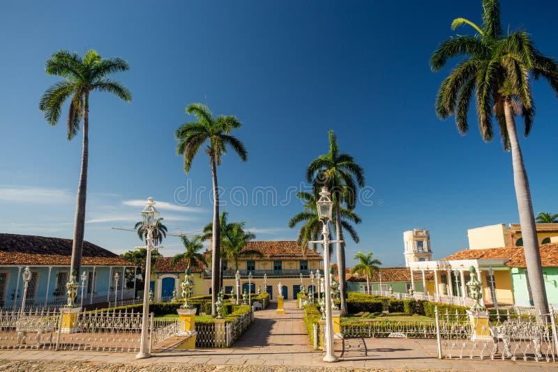 Le Trinidad, Cuba Maire de plaza photographie stock