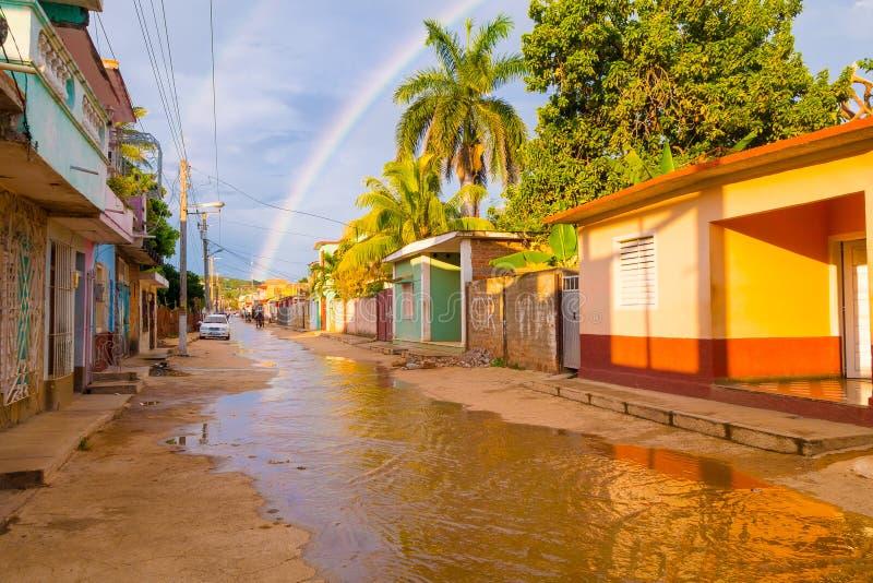 LE TRINIDAD, CUBA - 8 SEPTEMBRE 2015 : Inondé image stock