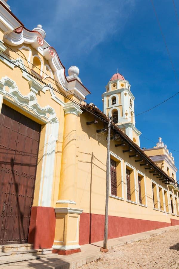 Le Trinidad, Cuba Site de patrimoine mondial de l'UNESCO Tour de Museo Nacio photo stock
