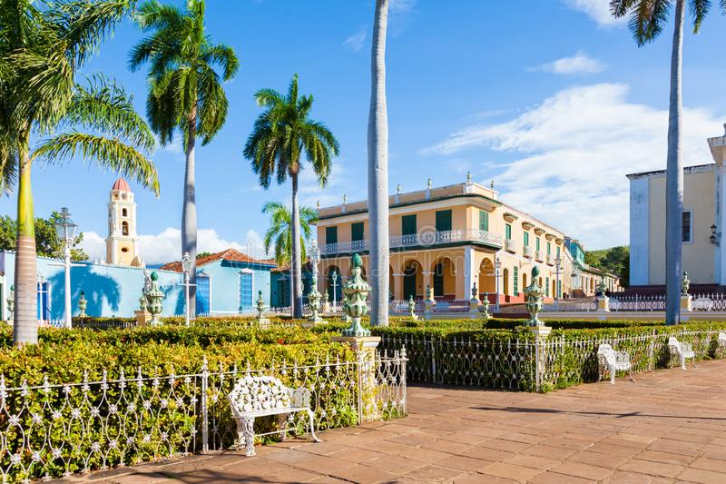 Le Trinidad, ville coloniale espagnole au Cuba central images stock