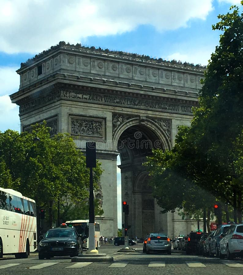 Le Triomphe des arcs photos stock