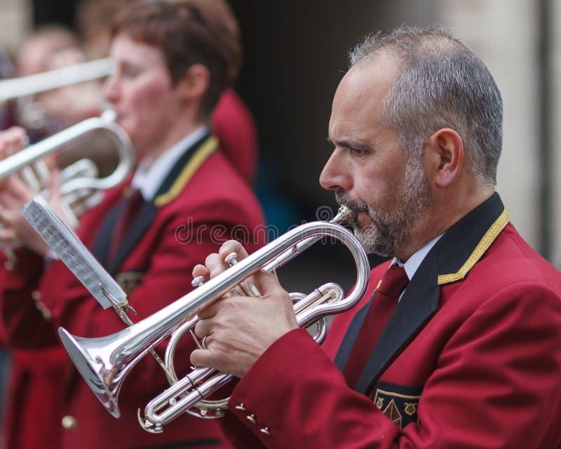 Le trompettiste photo libre de droits