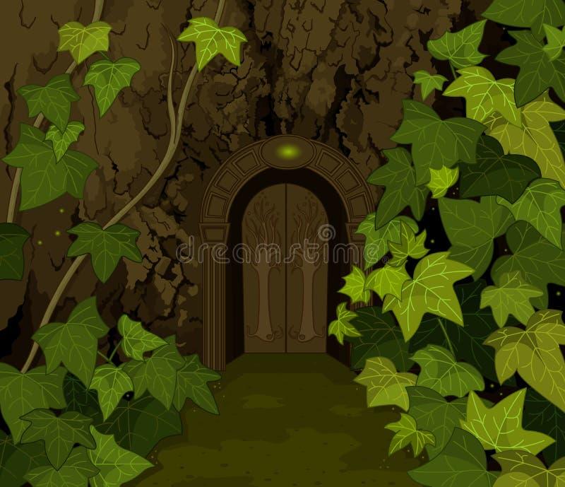 Portes de château magique d'elfes illustration libre de droits