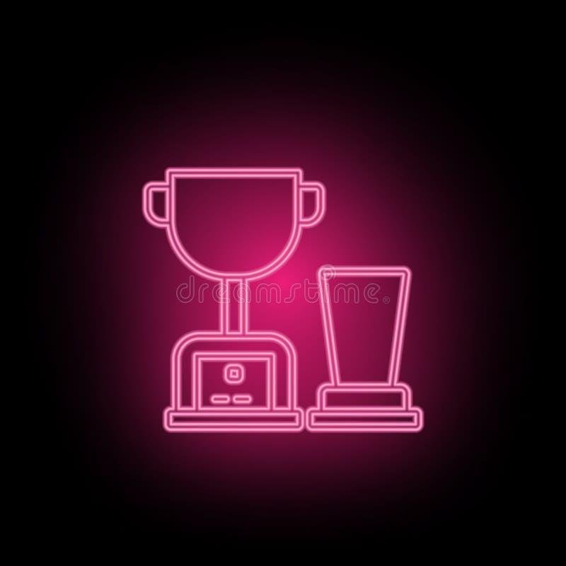 Le trophée, icône de mixerneon peut être employé pour illustrer des sujets au sujet d'optimisation de SEO, analytics de données,  illustration de vecteur