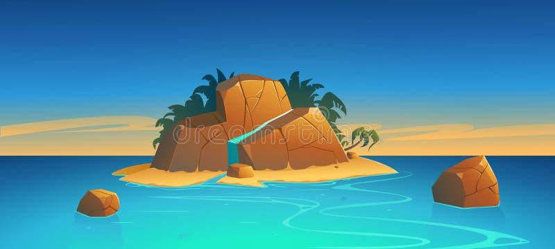 ?le tropicale illustration stock