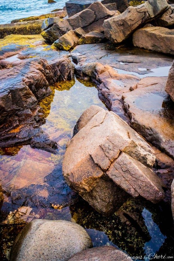 Le trou de tonnerre dans le parc national d'Acadia, Maine photos stock