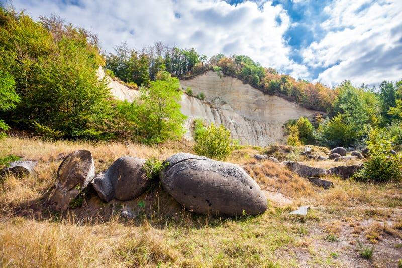 Le Trovants de Costesti - la vie et les pierres croissantes de Roma photographie stock