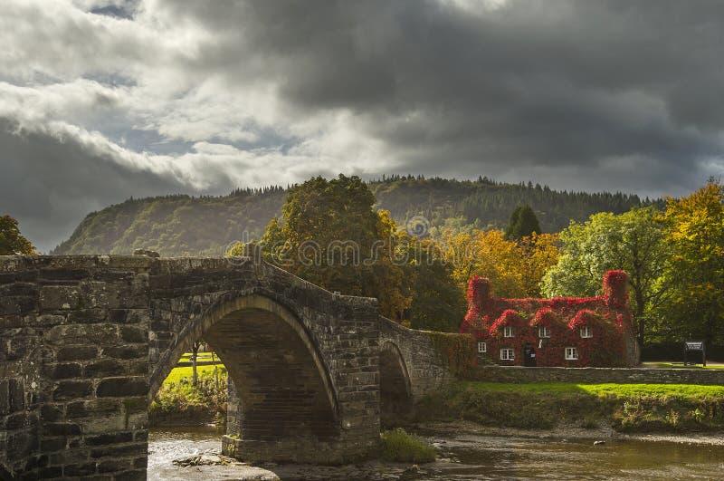 """Le TU-Hwnt-Je """"r Bont, pièce Llanrwst, Pays de Galles du nord de thé photos libres de droits"""