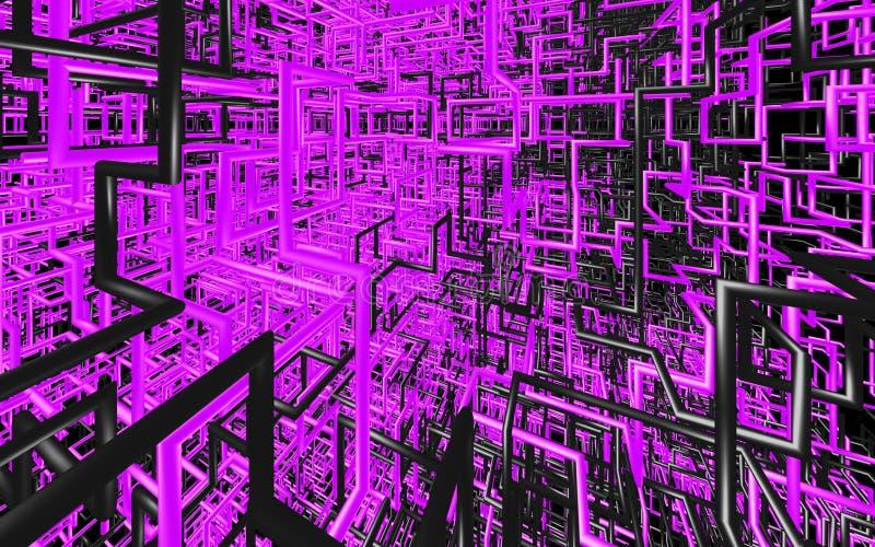 Le tube de couleur abstrait aiment sur le fond solide illustration stock