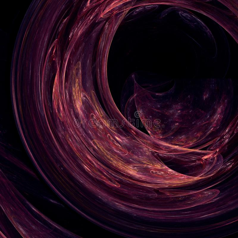 Le tunnel à l'oublie, fractale a produit du fond illustration libre de droits