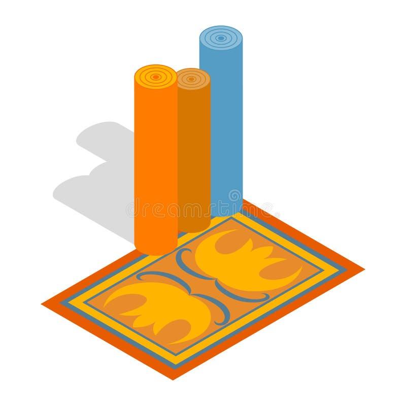 Le turc tapisse l'icône, le style 3d isométrique illustration de vecteur