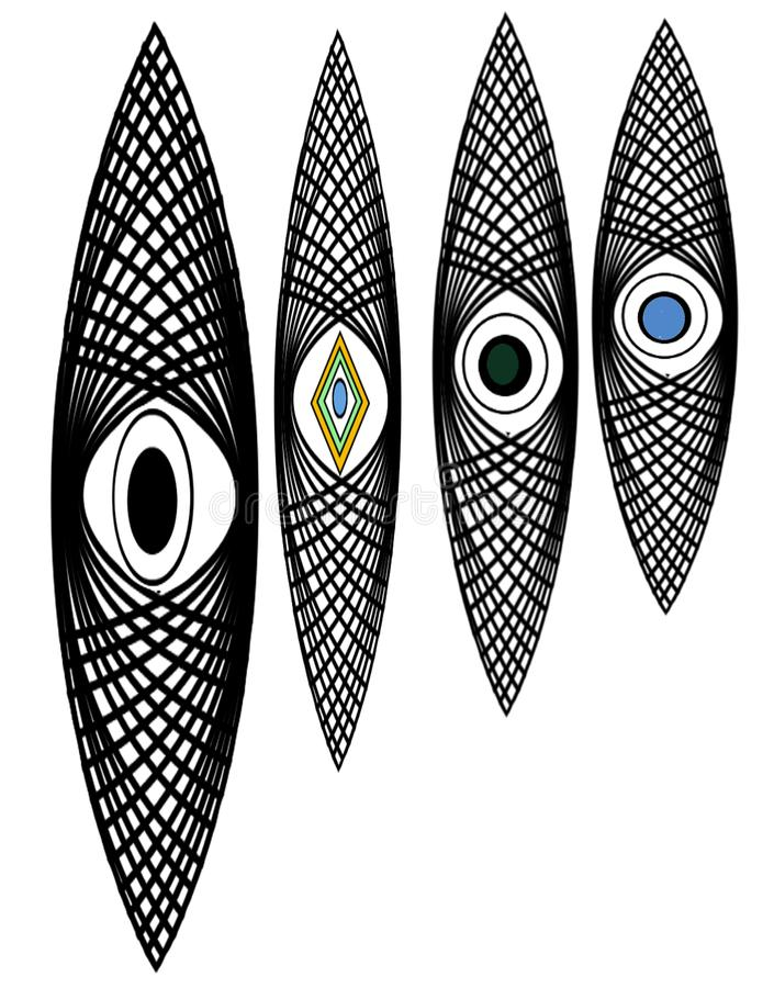 Le type de logo du troisième oeil avant-entendent illustration stock