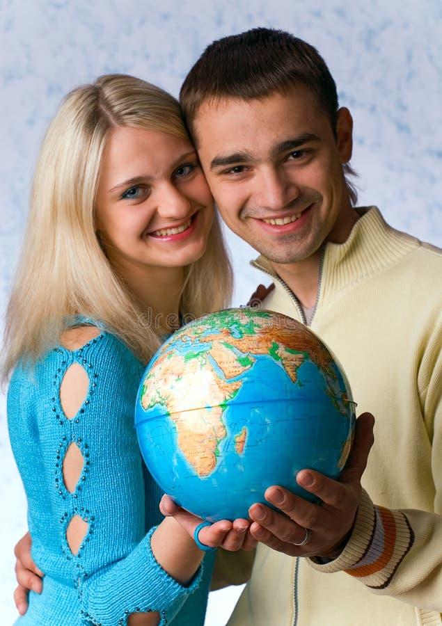 Le type et la fille photo stock