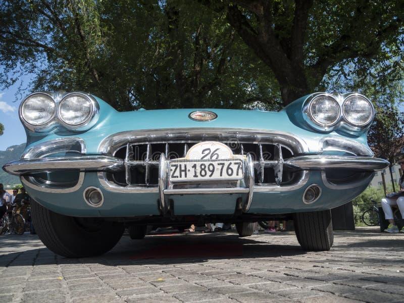 Le Tyrol du sud cars_2015_Chevrolet classique Corvette C1 image stock