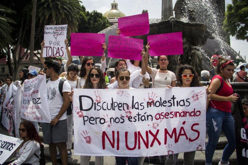 Le università sono manifestate dal femicide di Mara Fernanda Castilla Miranda immagini stock
