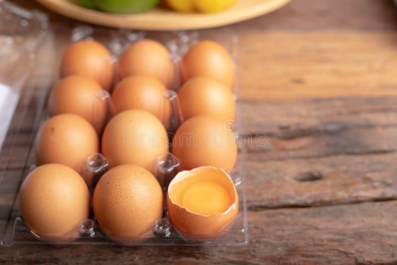 Le uova del pollo sono ricche in proteina di alta qualità fotografie stock