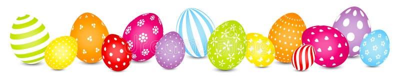 Le uova di Pasqua mescolano l'insegna di colore dell'arcobaleno del modello royalty illustrazione gratis