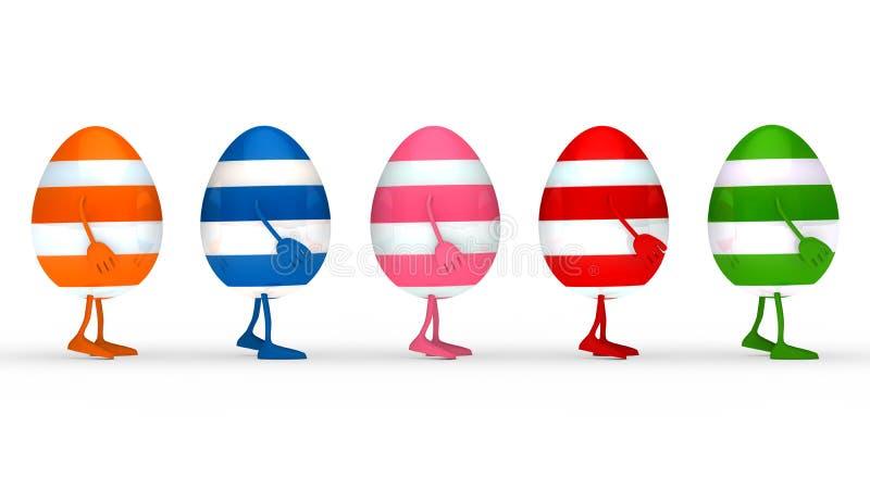 Le uova estern variopinte vanno illustrazione vettoriale