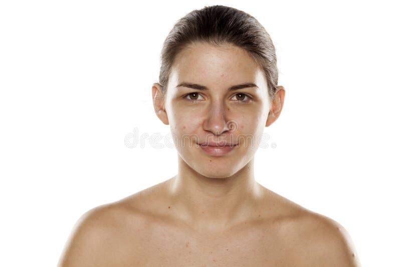 Le utan makeup fotografering för bildbyråer