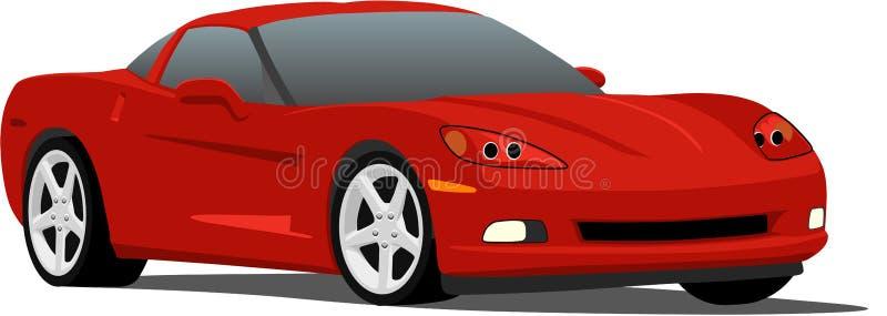 le véhicule corvette folâtre le vecteur illustration de vecteur