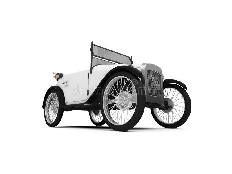 le véhicule a façonné vieux rétro illustration de vecteur