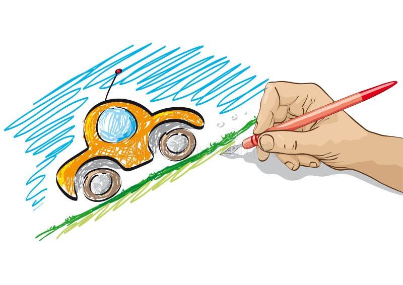 Le véhicule neuf jeûnent illustration libre de droits