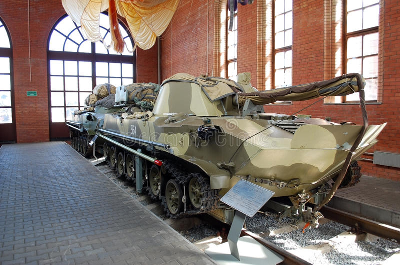 Le véhicule soviétique de combat d'un atterrissage dans le musée de Sakharov Togliatti Russie photo libre de droits