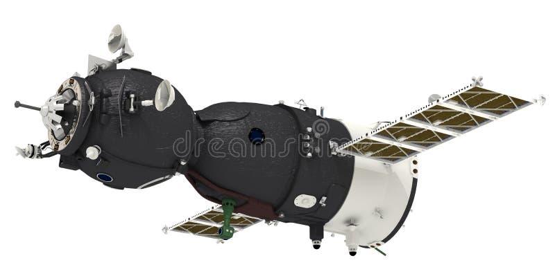 Le vaisseau spatial a isolé illustration stock