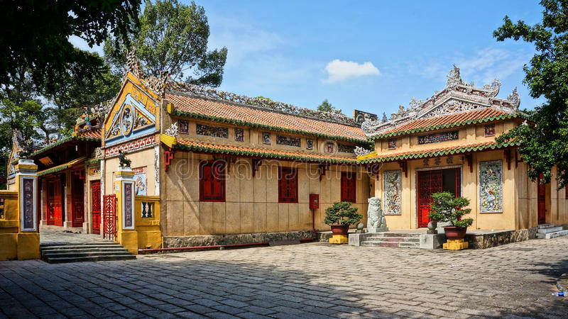 Le Van Duyet temple, history worship place. HO CHI MINH CITY, VIET NAM- JAN 1: Amazing panorama of Le Van Duyet temple at Sai Gon, with ancient architect, nice stock photos
