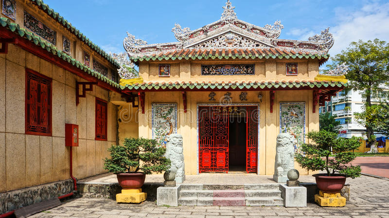 Le Van Duyet temple, history worship place. HO CHI MINH CITY, VIET NAM- JAN 1: Amazing panorama of Le Van Duyet temple at Sai Gon, with ancient architect, nice stock photo