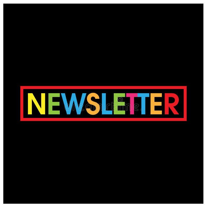 Le vecteur coloré marque avec des lettres l'icône vecteur de bulletin d'information de mot illustration libre de droits