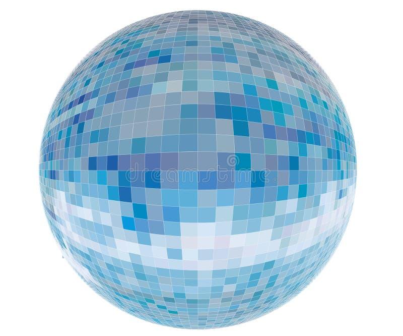 Le vecteur a couvert de tuiles la sphère bleue illustration de vecteur