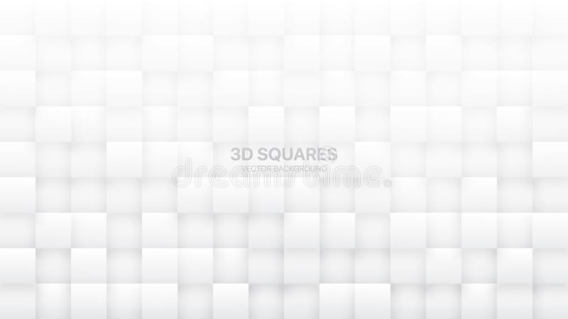 le vecteur 3D ajuste le fond abstrait blanc illustration stock