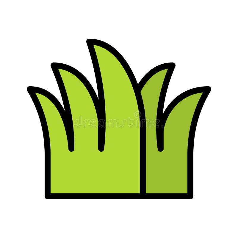Le vecteur d'herbe, Pâques a rempli course editable d'icône illustration stock