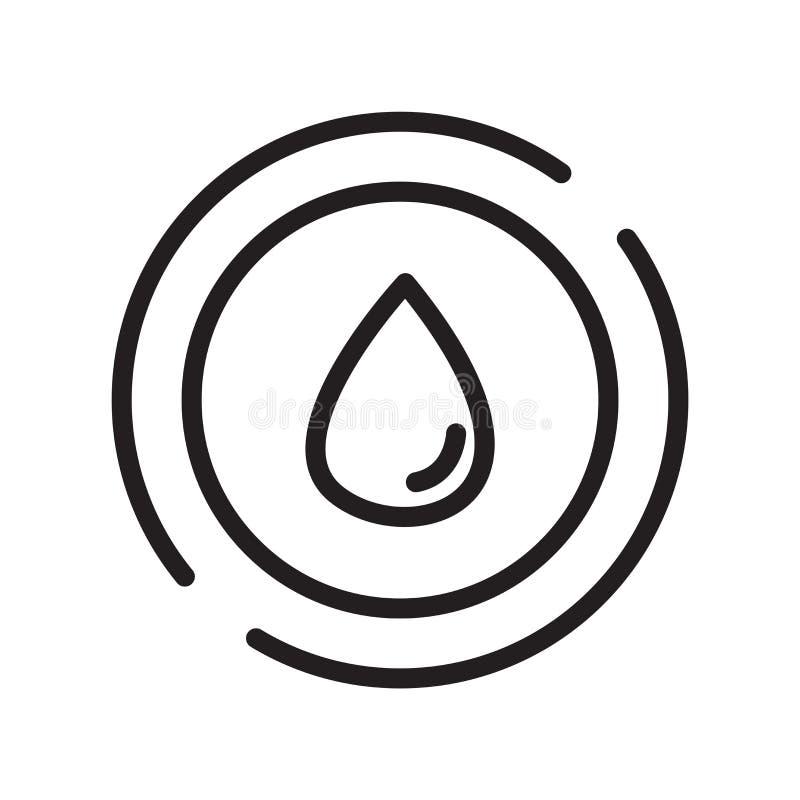 Le vecteur d'icône de baisse d'isolement sur le fond blanc, laissent tomber le signe, la ligne symbole ou la conception linéaire  illustration libre de droits