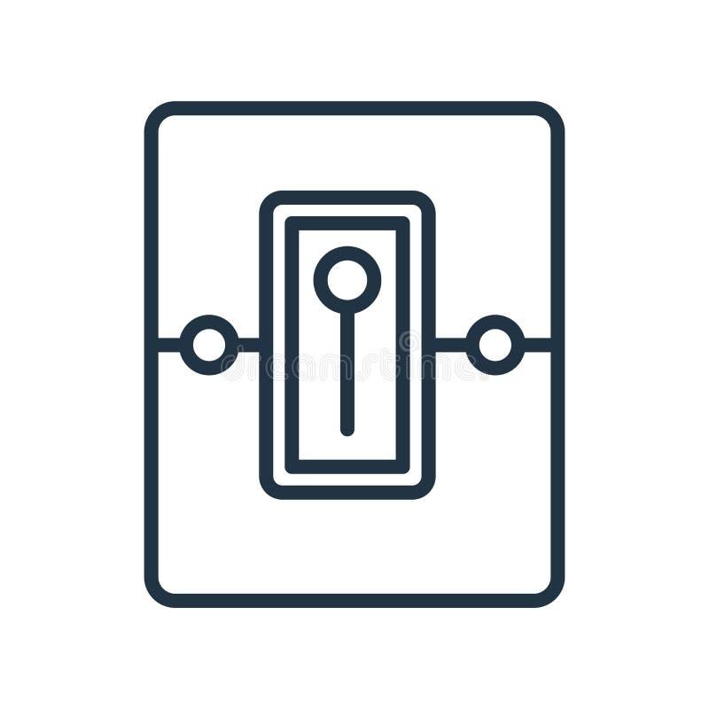 Le vecteur d'icône de commutateurs d'isolement sur le fond blanc, commute le signe illustration libre de droits