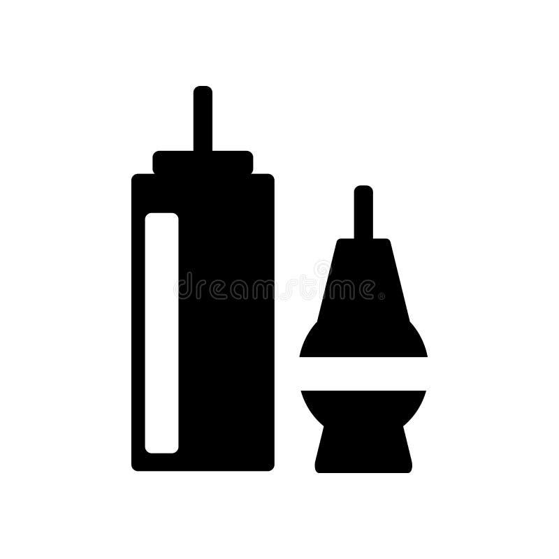 Le vecteur d'icône de condiments d'isolement sur le fond blanc, condiments signent, des symboles de nourriture illustration libre de droits