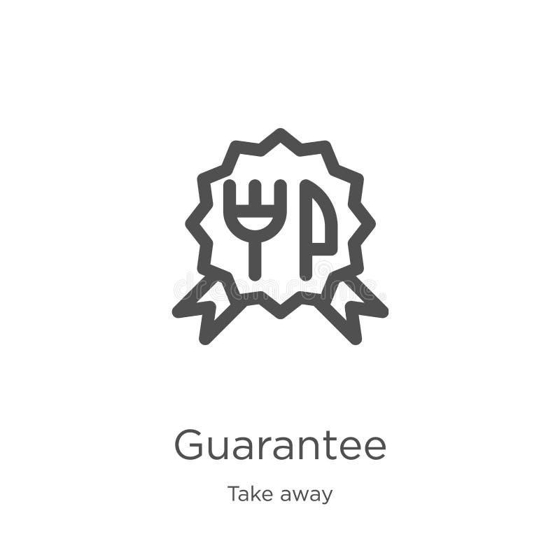 le vecteur d'icône de garantie de emportent la collection Ligne mince illustration de vecteur d'icône d'ensemble de garantie Cont illustration de vecteur