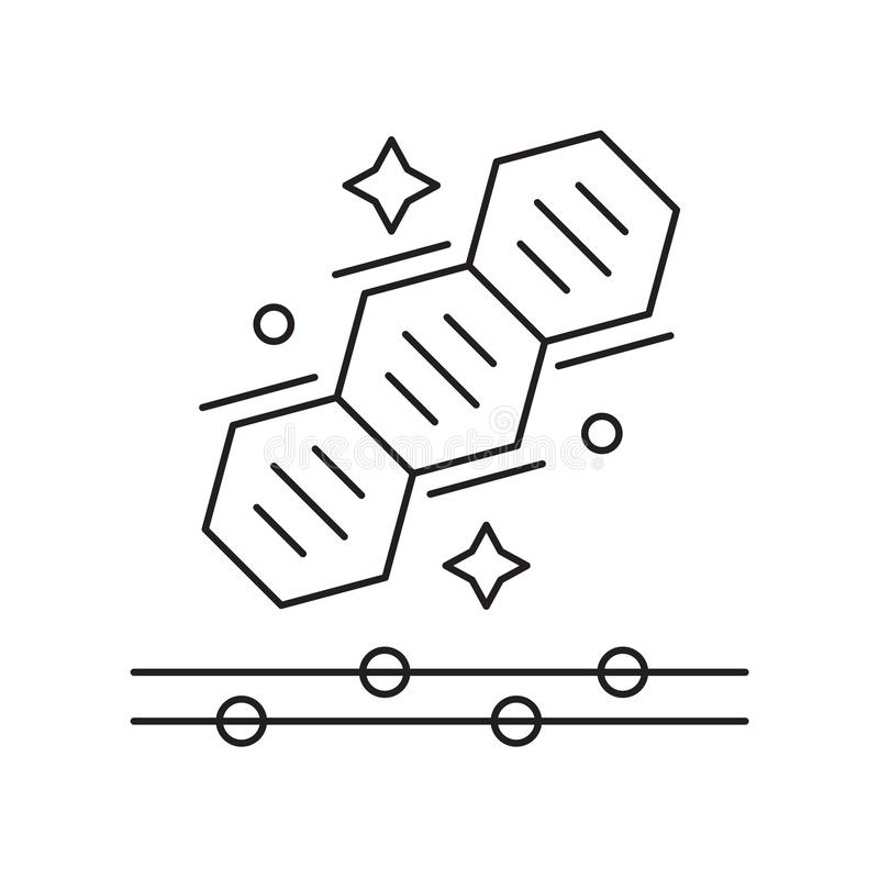 Le vecteur d'icône de la génétique d'isolement sur le fond blanc, la génétique signent illustration de vecteur