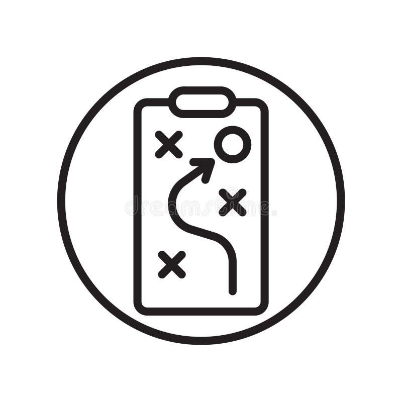 Le vecteur d'icône de la tactique d'isolement sur le fond blanc, la tactique signent, des symboles linéaires de sport illustration de vecteur