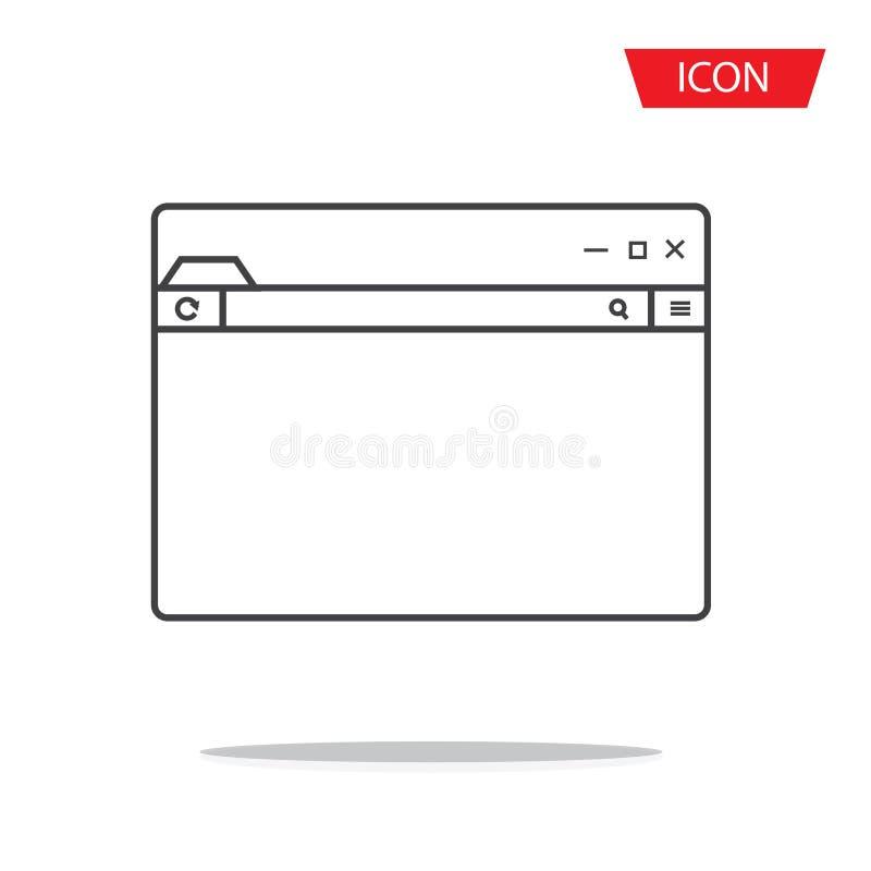 Le vecteur d'icône de navigateur a isolé photo libre de droits