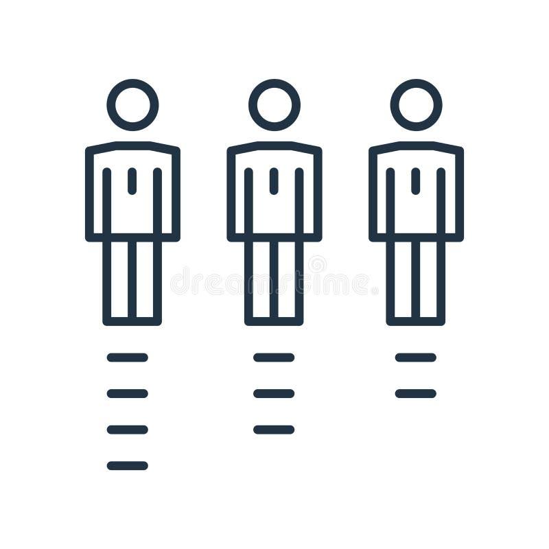 Le vecteur d'icône de qualifications d'isolement sur le fond blanc, qualifications signent illustration de vecteur