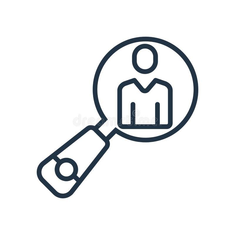 Le vecteur d'icône de ressources humaines d'isolement sur le fond blanc, les ressources humaines signent illustration de vecteur