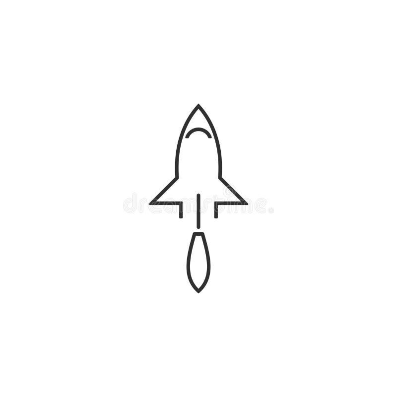 Le vecteur d'icône de Rocket a isolé 12 illustration libre de droits