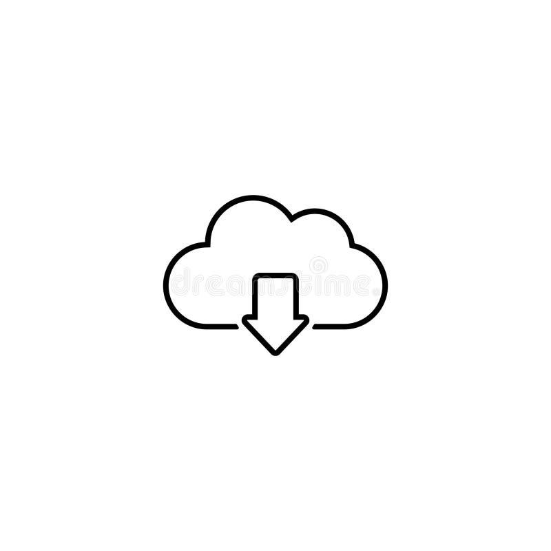 Le vecteur d'icône de téléchargement de nuage a isolé 1 illustration libre de droits