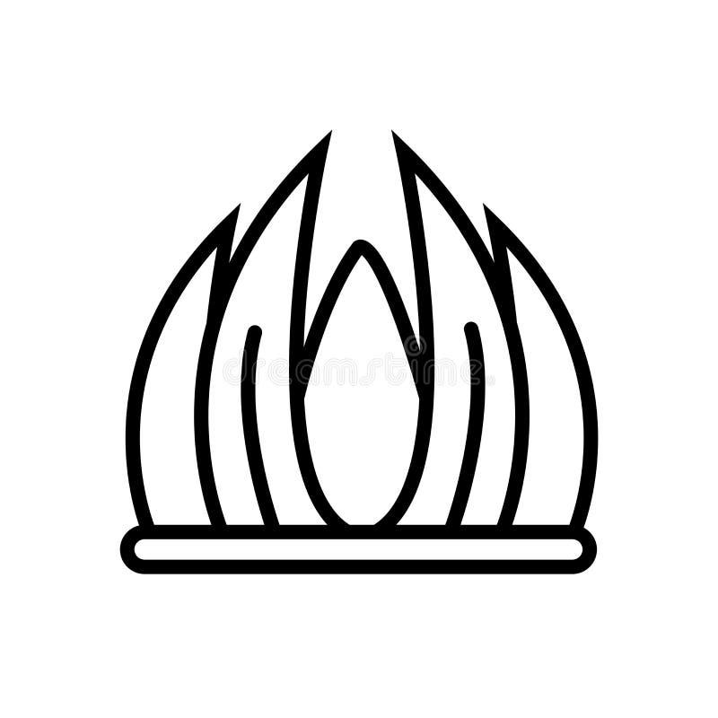 Le vecteur d'icône d'herbe d'isolement sur le fond blanc, engazonnent le signe, la ligne ou le signe linéaire, conception d'éléme illustration libre de droits