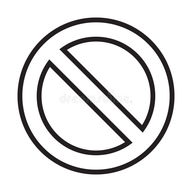 Le vecteur d'ic?ne d'interdiction, pas a permis le signe, signe d'interdiction illustration libre de droits