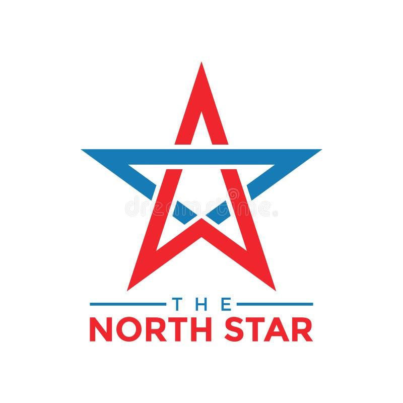 Le vecteur de calibre de conception graphique d'étoile du nord illustration libre de droits